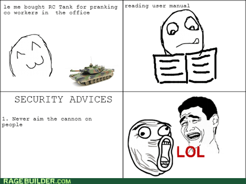 Rage!Security Advices