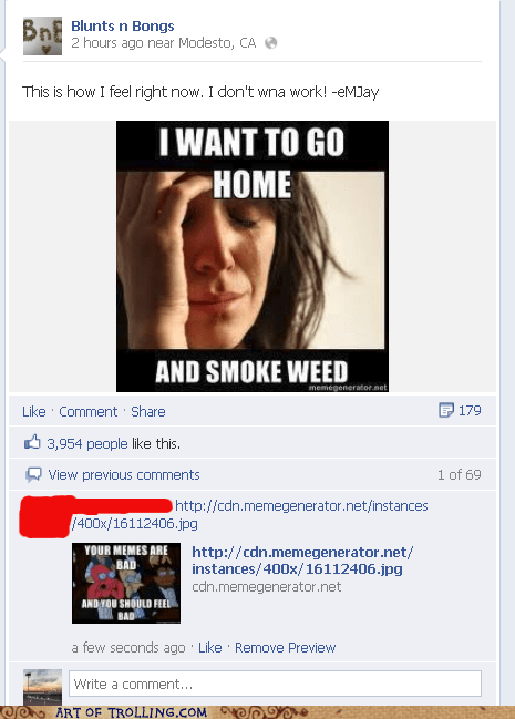 your meme is bad facebook weed - 6677563136