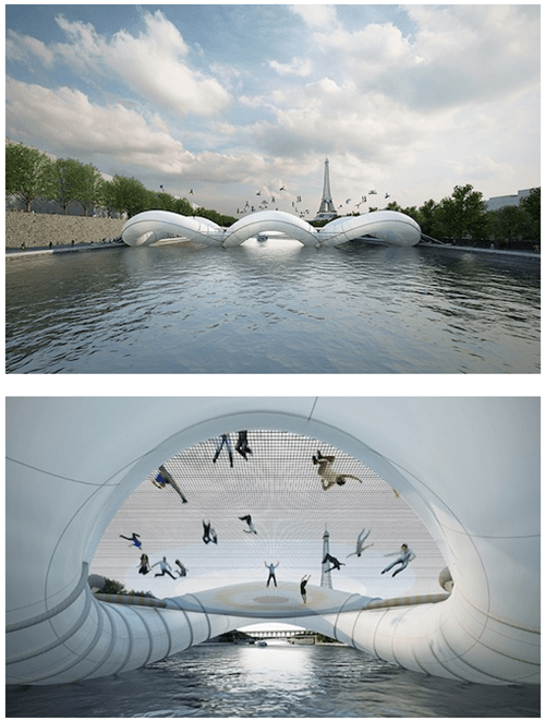 design whee trampoline bridge architecture