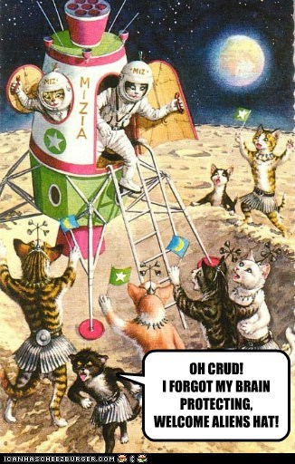 Cats space Aliens spaceship - 6677755392