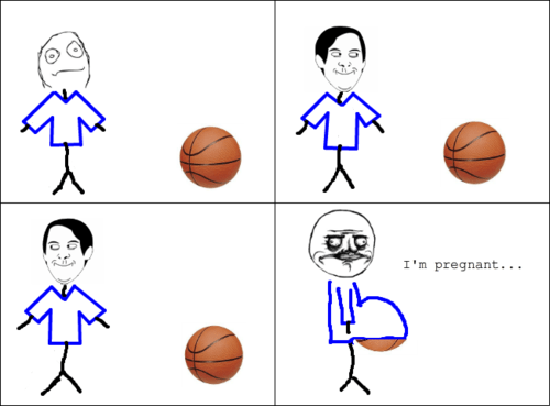 basketball,Rage Comics,pregnancy