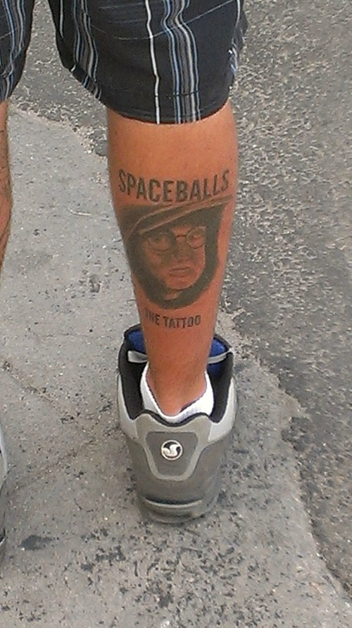 spaceballs,leg tattoos