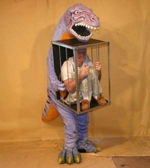 dinosaur,cage,halloween costume