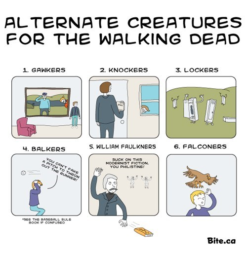 The Walking Dead,TV,alternative,william faulkner,gawker