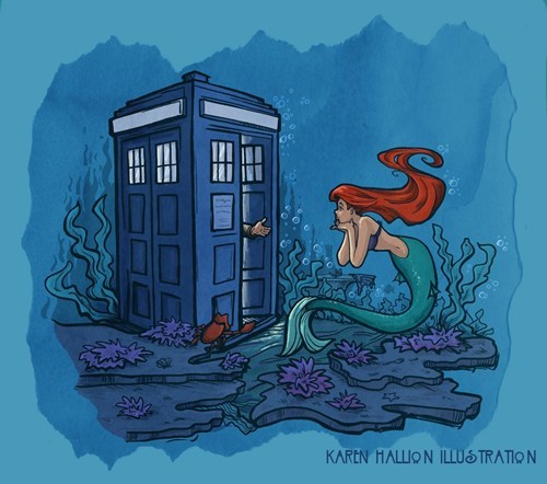 tardis,The Little Mermaid,doctor who,crossover