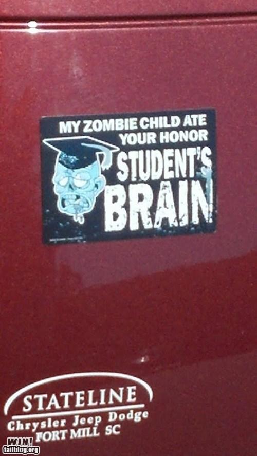zombie apocalypse students-brain eating brains zombie honor student - 6678146304