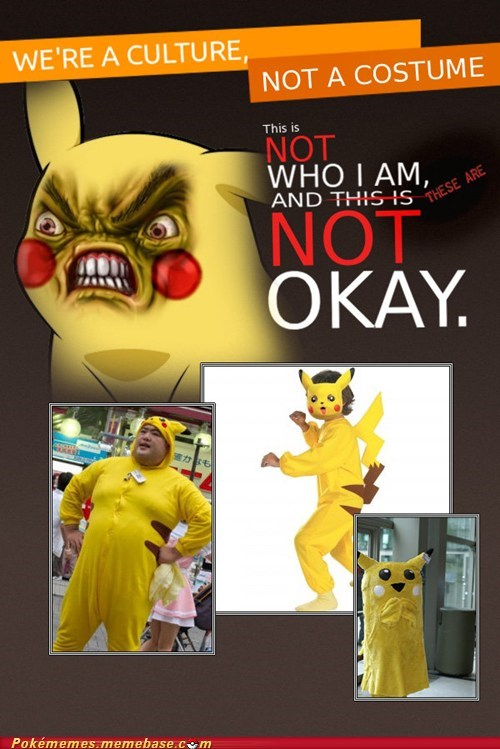meme not a costume gross pikachu - 6678149888