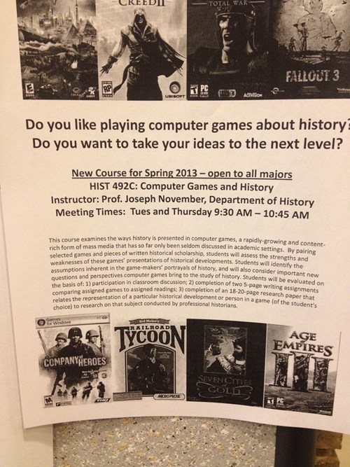 college courses video games IRL history - 6678187008