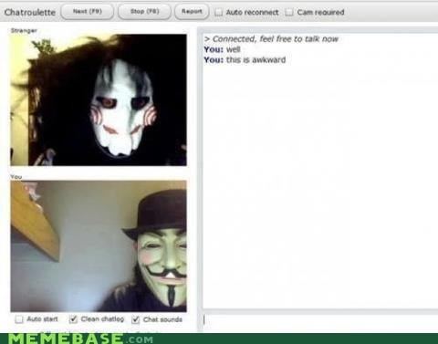 chatroulette Awkward saw Guy Fawkes - 6678248448