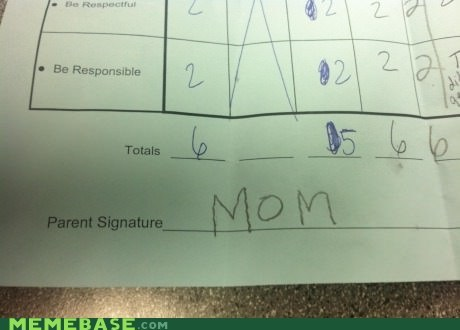 mom,signature,seems legit
