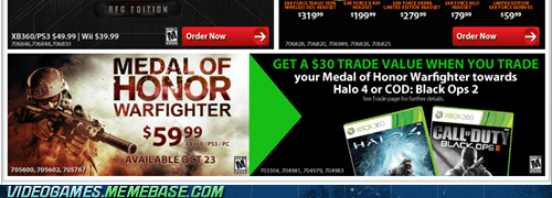 gamestop medal of honor not a top tier game