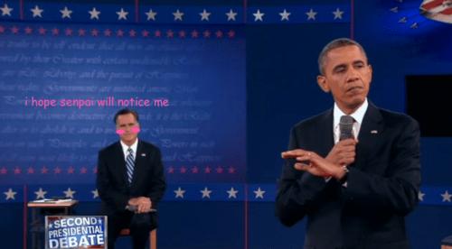 Mitt Romney barack obama senpai love anime slash fiction - 6678936320