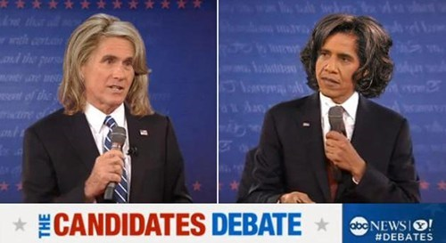 Mitt Romney barack obama Ann Romney Michelle Obama hair swap