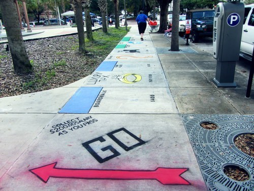 monopoly hacked irl Street Art board game - 6678969856