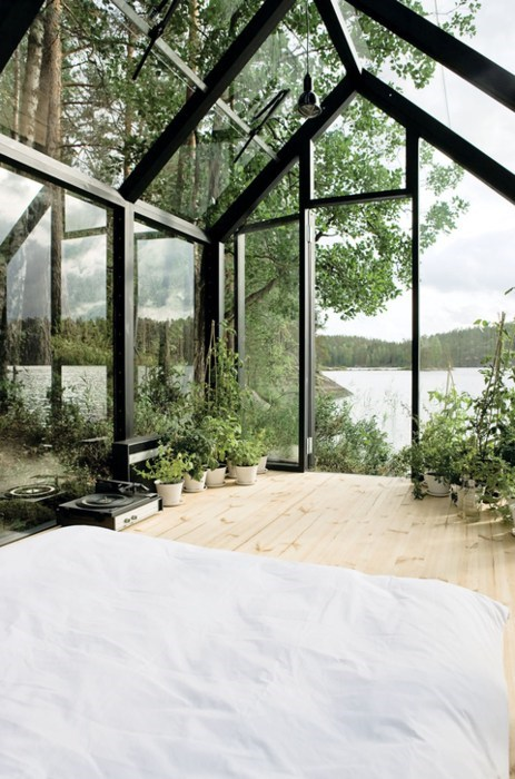 bedroom wilderness hotel greenhouse
