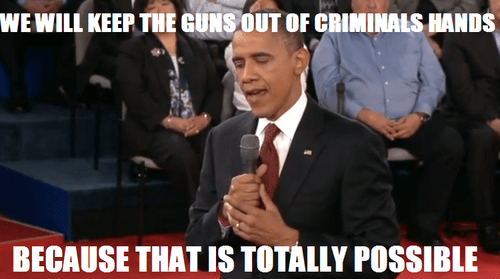 barack obama,guns,criminals,debate,answer,possible