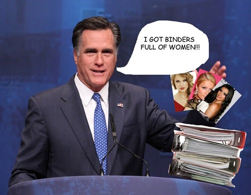 Mitt Romney,binders,women,full,quote,debate