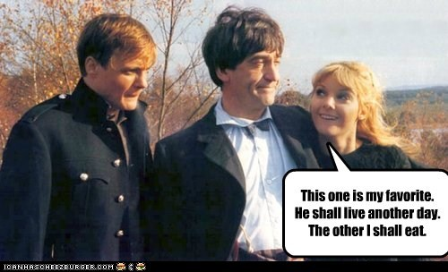 patrick troughton the doctor eat doctor who favorite - 6679123456