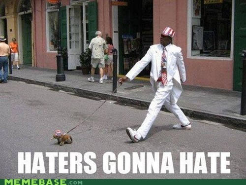 haters gonna hate walking dogs strut
