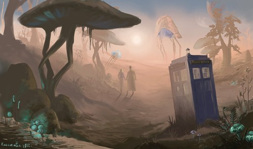 doctor who,morrowind,Fan Art,crossover,video games,scifi
