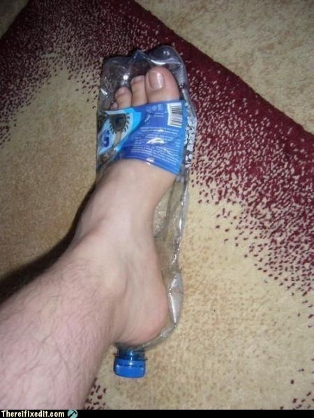air soles water bottle shoes flip flops - 6680632832