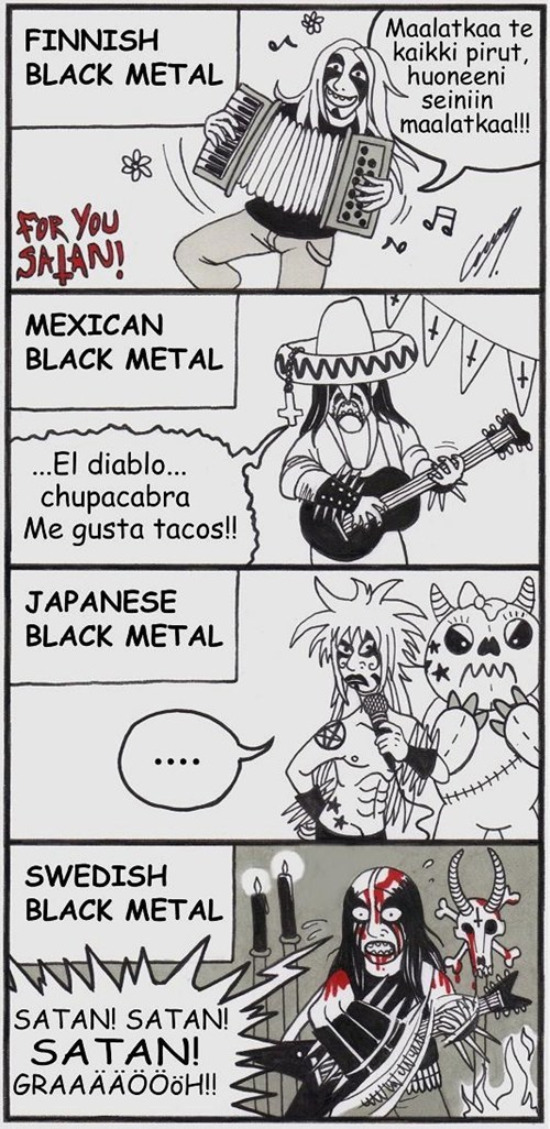 balck metal different cultures comic - 6680709632