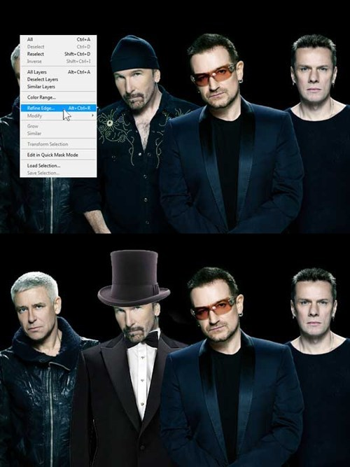 u2,the edge,refine edge,tuxedo