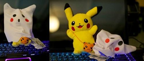 pikachu boo ghost halloween - 6681150208