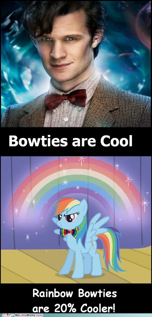 doctor who,bowties,rainbow dash,twenty percent cooler