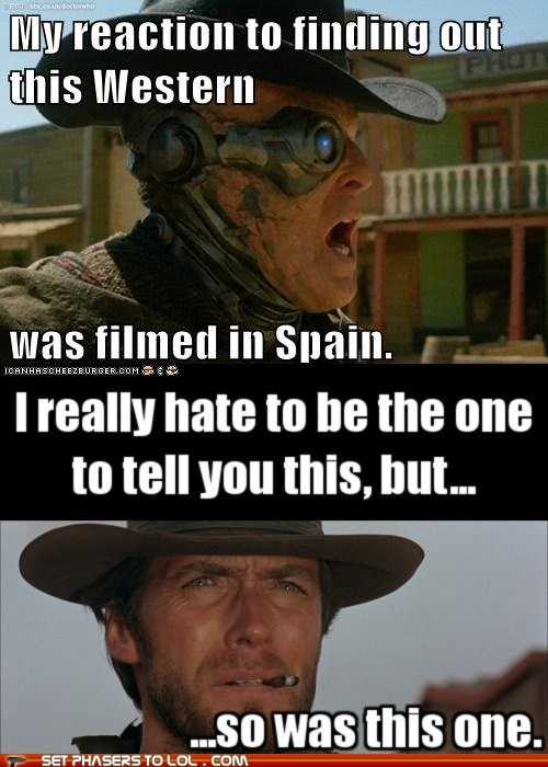 Spain western doctor who Clint Eastwood Kent reaction finding out - 6681219072