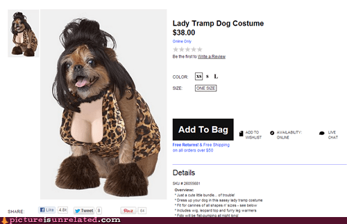 lady and the tramp dog costume halloween - 6681298944