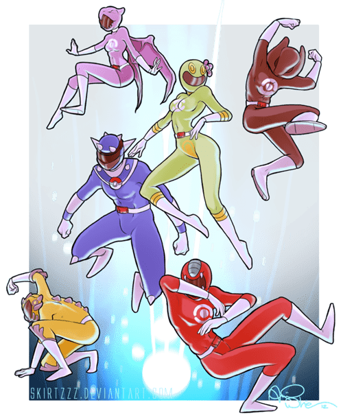 power rangers monday,power rangers,Pokémon,art,trolololololo,crossover