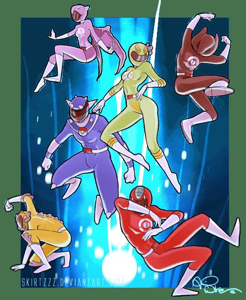 power rangers monday power rangers Pokémon art trolololololo crossover - 6681366272