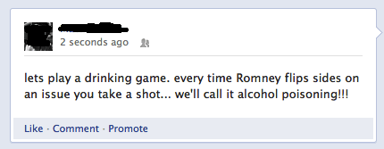 stomach pumped,drinking games,Romney,political