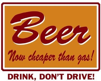 more fun drinking driving beer gas - 6681401856