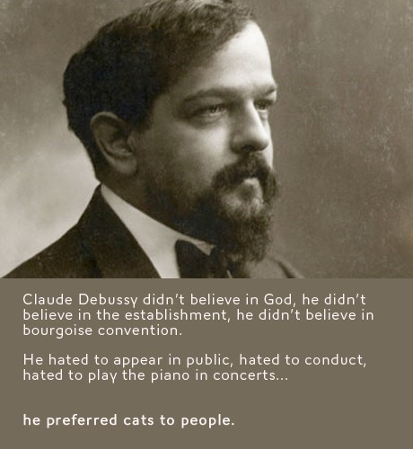 Claude Debussy Cats atheist classical music - 6681523968