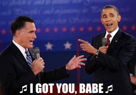 Mitt Romney barack obama singing I got you babe duet sonny and cher - 6681558272