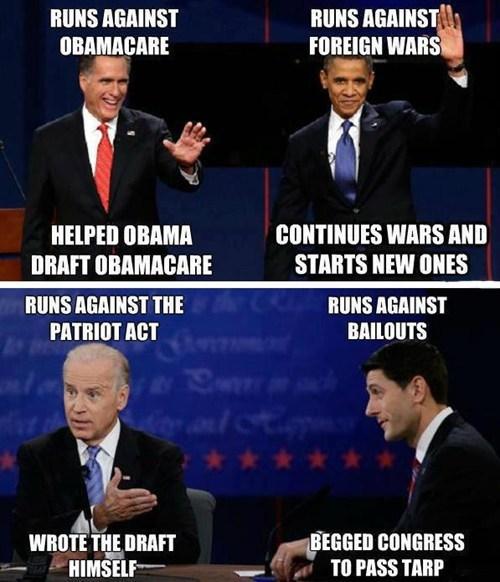 Mitt Romney barack obama joe biden paul ryan obamacare promises campaign - 6681597952