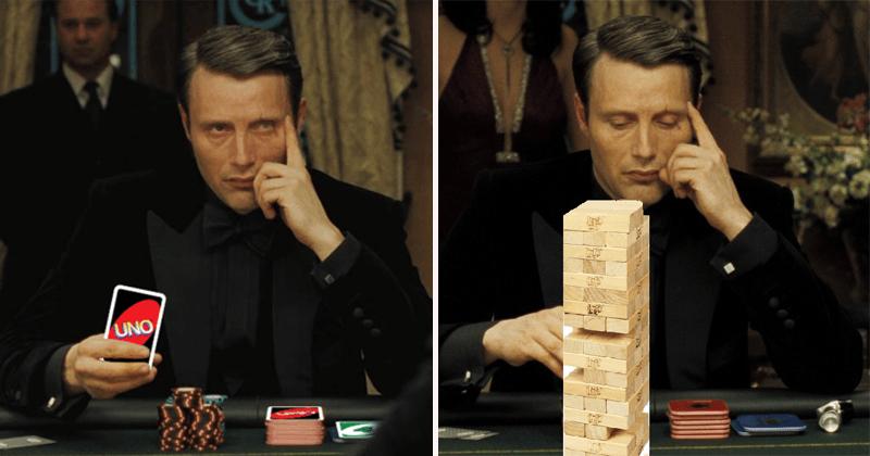 Funny casino royale poker parody memes/