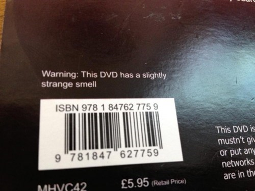 DVD burn smell what label box