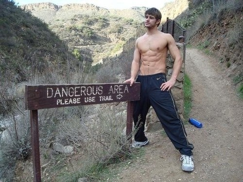 warning sign beefcake dangerous