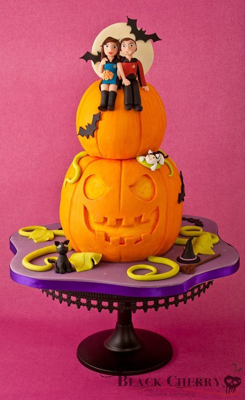 cake,halloween,fondant,Star Trek,Trekkies,pumpkins,ghoulish geeks,food