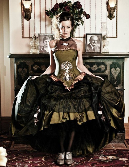 dress green dark tree alternative - 6681817856