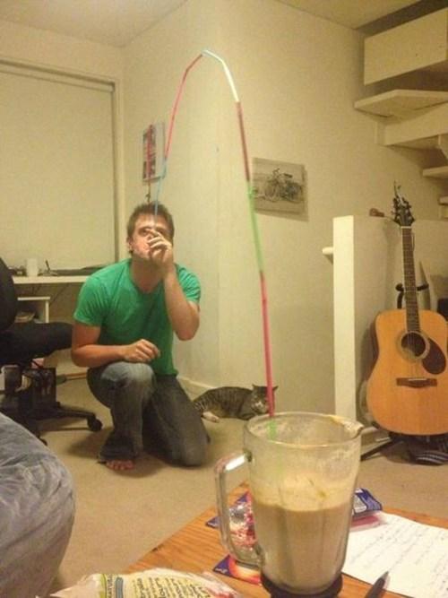 straw,drinking,trick