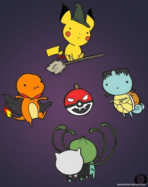 halloween,Pokémon,cute,art,ghoulish geeks,g rated