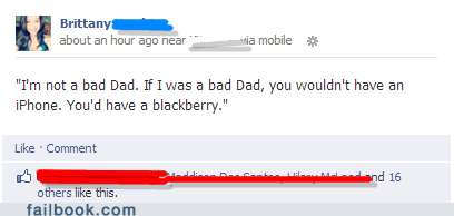 dad,Bad Dad,blackberry,iphone,iphone 5