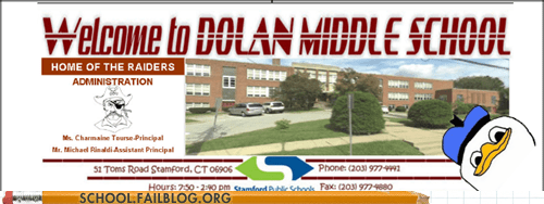 dolan,middle school,welcome