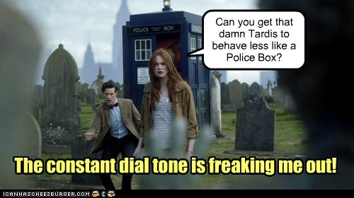 karen gillan fix the doctor phone tardis dial tone police box Matt Smith doctor who chameleon amy pond