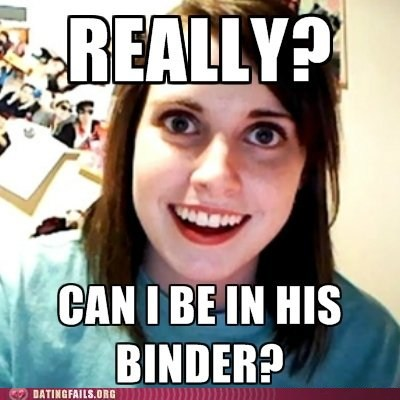 overly attached girlfriend binders of women Mitt Romney - 6682838528