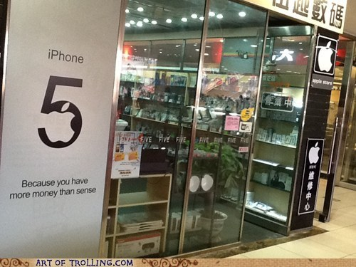 iphone 5 sign IRL money sense shoppers beware - 6682900736
